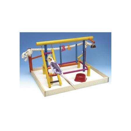 Bird-Activity-CenterExtra-Large-Bird-Playground-For-Cockatiels-Small-ParrotsWooden-Table-TopsBird-Play-Gyms-0-0