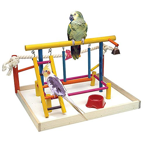 Bird-Activity-CenterExtra-Large-Bird-Playground-For-Cockatiels-Small-ParrotsWooden-Table-TopsBird-Play-Gyms-0