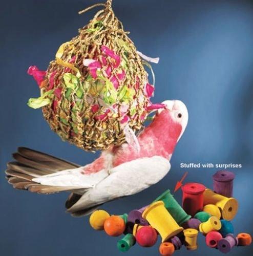 Toys For Birds : Large super shredder ball bird toy cages birds