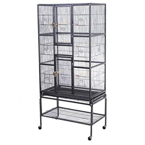 Costzon Bird Parrot Cage Chinchilla Cockatiel Conure Large W/stand