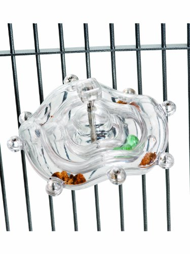 Creative-Foraging-Systems-Tilt-a-Wheel-Cage-Mount-Treat-Dispensing-Bird-Toy-0