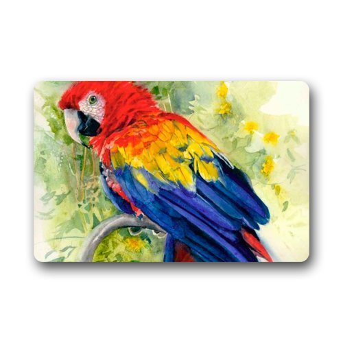 DearHouse Fashion Decorative Door Mat Rug Oil Painting Parrot Art