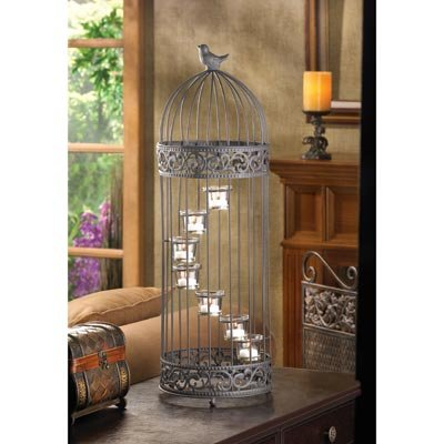 Gifts-Decor-Birdcage-Style-Staircase-Tealight-Candle-Holder-Stand-0-0