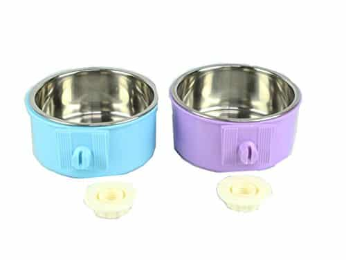 Kailian Stainless Steel Hanging Pet Cage Bowl Food