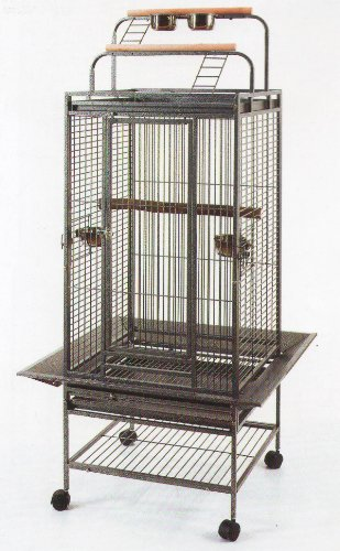2 Color New Large Play Top Bird Cage Parrot Finch Macaw