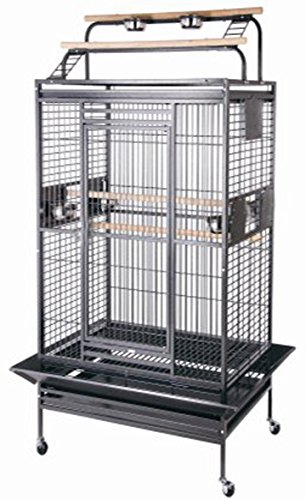 New-Large-Play-Top-Bird-Cage-Parttot-Finch-Macaw-Cockatoo-Bird-Wrought-Iron-Cage-0
