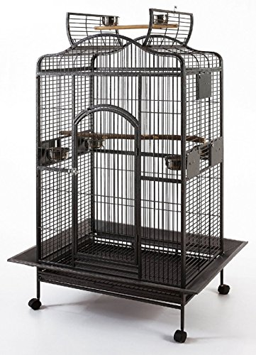 ad3c03c24 New Large Wrought Iron Open/Close Play Top Bird Parrot Cage, Include ...