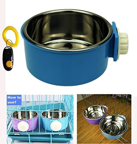 Pet Leso Removable Stainless Steel Hanging Bowl Cat Bowl