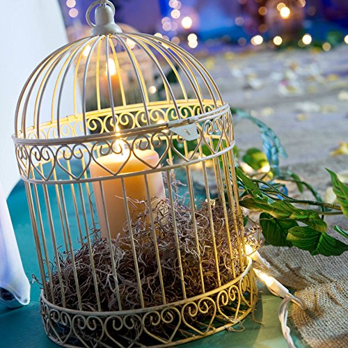 Shindigz-Valentines-Party-Decorative-Ivory-Bird-Cage-Centerpiece-0-0
