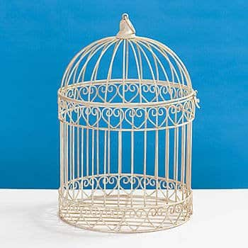 Shindigz-Valentines-Party-Decorative-Ivory-Bird-Cage-Centerpiece-0