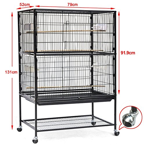 World-Pride-Wrought-Iron-Select-Bird-Cage-Parrot-Macaw-Cockatoo-Birdcage-Stands-0-0