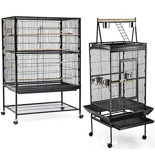 World-Pride-Wrought-Iron-Select-Bird-Cage-Parrot-Macaw-Cockatoo-Birdcage-Stands-0-2