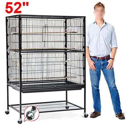 World-Pride-Wrought-Iron-Select-Bird-Cage-Parrot-Macaw-Cockatoo-Birdcage-Stands-0