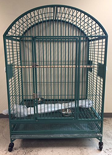XX-Extra-Large-Dome-Top-Bird-Parrot-Cage-With-6mm-Extra-Strong-Wire-40-X-30-X-66-0