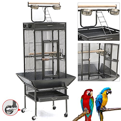Yaheetech-Pet-Bird-Cage-Play-Top-Parrot-Cockatiel-Cockatoo-Parakeet-Finches-0-0