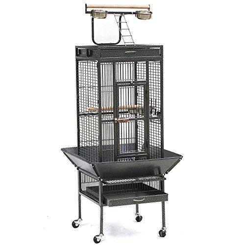 Yaheetech-Pet-Bird-Cage-Play-Top-Parrot-Cockatiel-Cockatoo-Parakeet-Finches-0